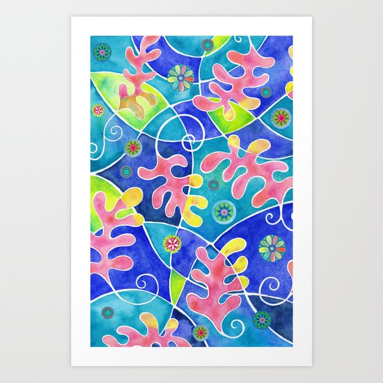 Coral Toss Art Print