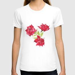 Three Red Roses T-shirt