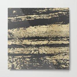 Marble Black Gold - Save Me Metal Print