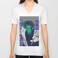 nightcrawler V-neck T-shirts featuring Nightcrawler by Hugo Maldonado