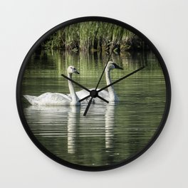 Family of Swans, No. 1 Wall Clock
