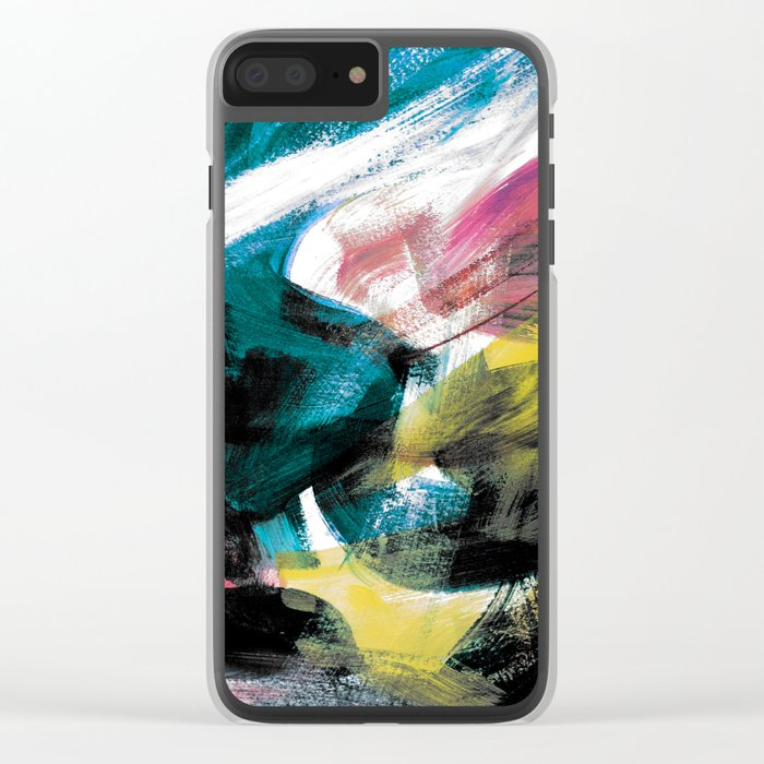 Abstract Artwork Colourful #3 Clear iPhone Case