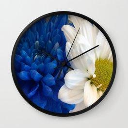 Blue & White Wall Clock