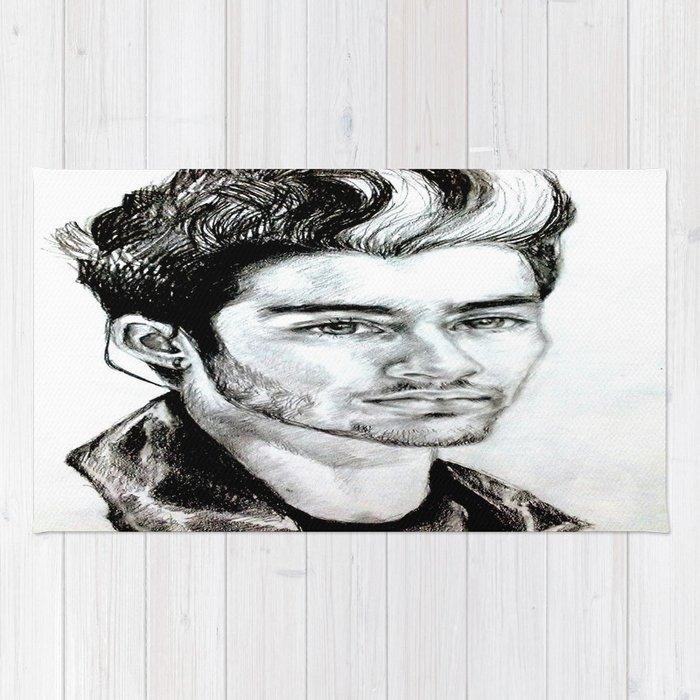Zayn Malik Drawing Rug By Clairenisbet Society6