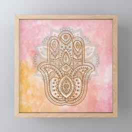 Summer Hamsa Framed Mini Art Print