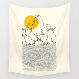 Sun and sea cliffs Wall Tapestry