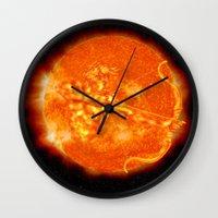 apollo Wall Clocks featuring Apollo by mkpowellart