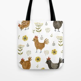 chicken floral Tote Bag