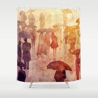 takmaj Shower Curtains featuring Summer day by takmaj