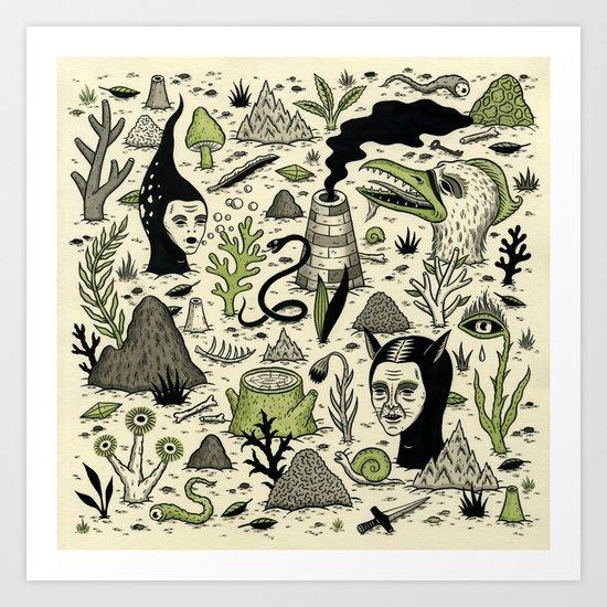 Verdant Graveyard Art Print