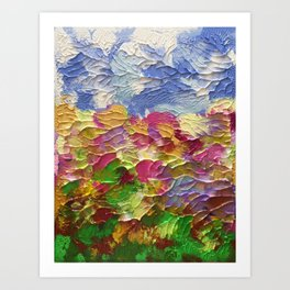 Summer field Art Print
