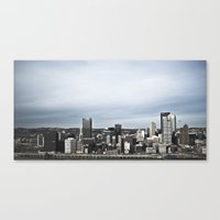 pittsburgh Canvas Prints featuring pittsburgh by ZacharyMcMannis