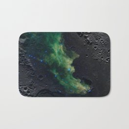 The Witch's Mirror The Dark Side Of The Moon (Mare Moscoviense & Witch Head Nebula) Bath Mat
