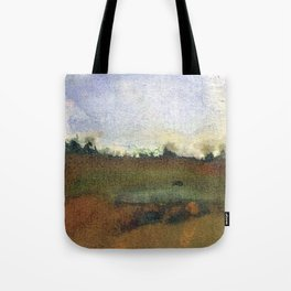 English countryside watercolour and ink landscape painting Tote Bag