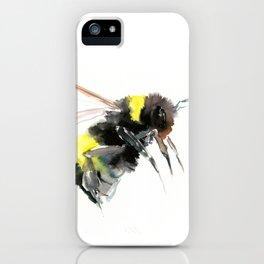Bumblebee, bee art flying bee design honey bee wildlife iPhone Case