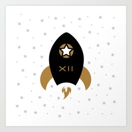 Spaceship #12 Art Print