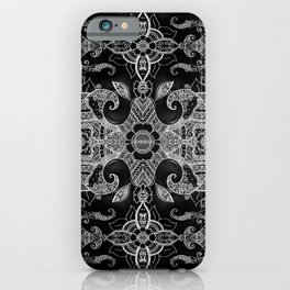 Sunflowers - Mehndi Paisley Floral Abstract Art - Black White #2 iPhone Case