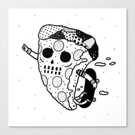 Pepperoni grab Canvas Print