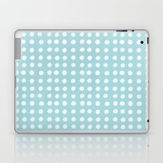 Blue Polka Pattern Laptop & iPad Skin