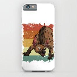 Cartoon Happy Hyena iPhone Case