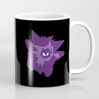 gengar Mugs featuring Ghost Evolution by darko888