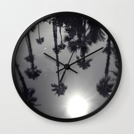 Palm Tree Reflection Wall Clock