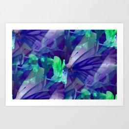 Butterfly in wonderland ... Art Print