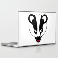 badger Laptop & iPad Skins featuring Badger by Doctor Hue