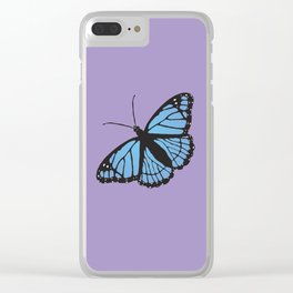 Blue viceroy butterfly Clear iPhone Case