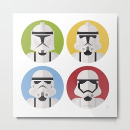 Stormtrooper evolution Metal Print