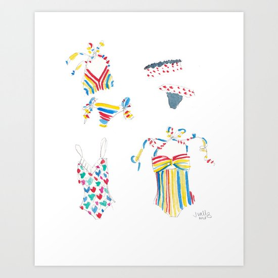 Lauren Moffatt Swimsuits Art Print