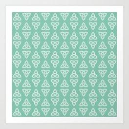 Green Celtic Knot: Trinity Knot Art Print