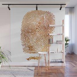 Gold Fingerprint Minimalist Modern Animal Print Selfie Bohemian Chic Fashion Wall Mural