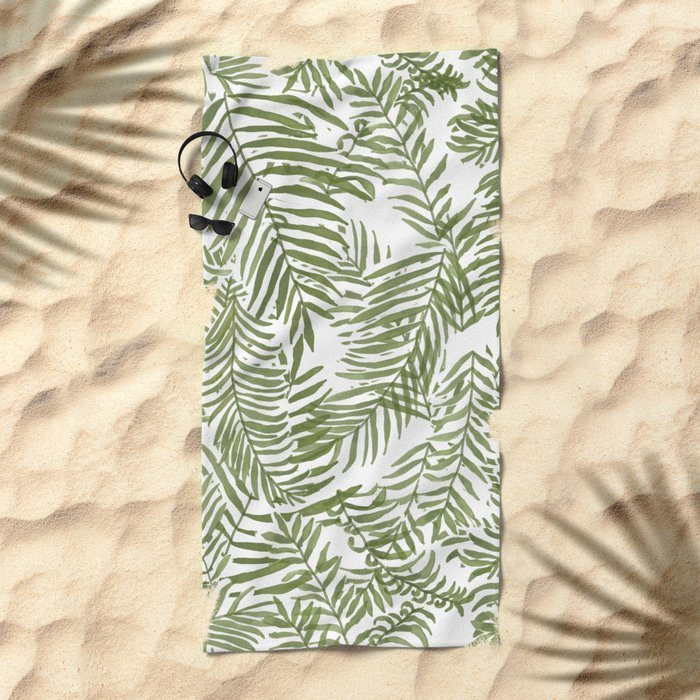 Areca Palm Pattern Beach Towel