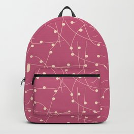 Dots and Lines in Magenta Backpack