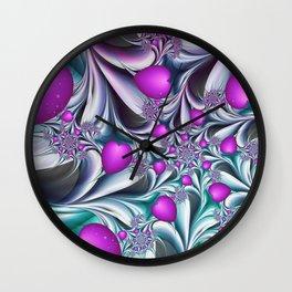 Love makes happy Fractal Art Wall Clock