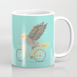 Cockatiel on a Bicycle Coffee Mug