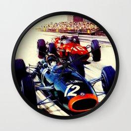 MONACO : Vintage 1967 Grand Prix Auto Racing Print Wall Clock
