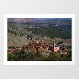Village Among Hills Art Print