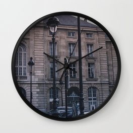 Parisian Lampposts Wall Clock
