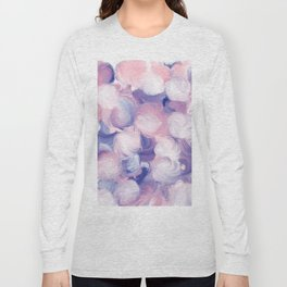 Abstract pink purple blue white modern oil dots painting Long Sleeve T-shirt