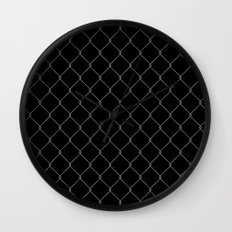 Wire Fence Wall Clock