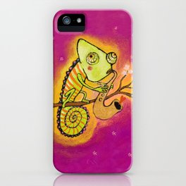 Chameleon in love iPhone Case