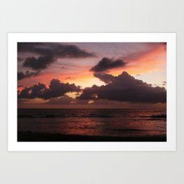 puerto vallarta sunset Art Print