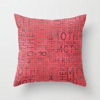 mother Throw Pillows featuring Mother by CatDesignz