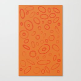 Orange Moonscape Circles and Ellipses #Abstract #Repeating Canvas Print