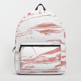 Modern abstract pink marbleized paint. Backpack