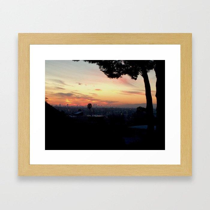 Silversun Sunset Framed Art Print
