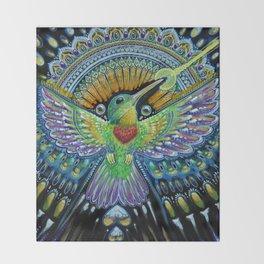 Colibri / Beija Flor II Throw Blanket