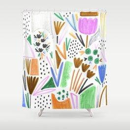 Felt Tip Floral Shower Curtain